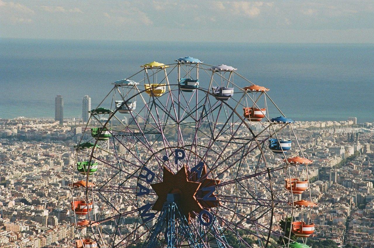 Tibidabo Amusement Park Barcelona Catalonia Barcellona Spagna Barcellona