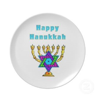 Happy Hanukkah Plates and Platters