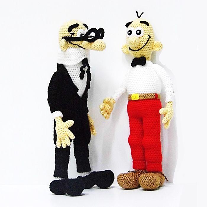 Patrones Mortadelo y Filemón | @melahat.hobievi | Pinterest ...