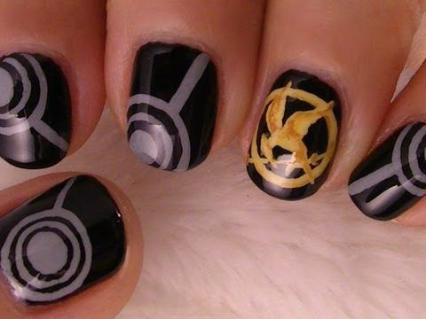 Hunger Games Nail Design Hoping Ill Have Enough Time To Do These