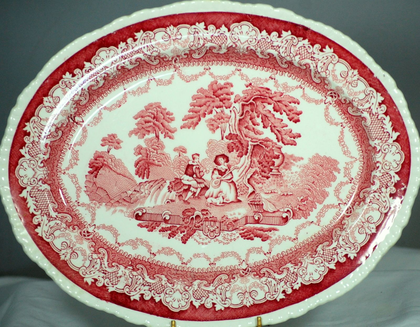 Woods Watteau Burslem Enoch 1784 Ralph 1750 12 Inch Oval Serving Platter : decorative serving plates - pezcame.com