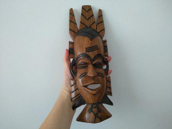 Vintage African Mask Vintage African Wood Carving Face