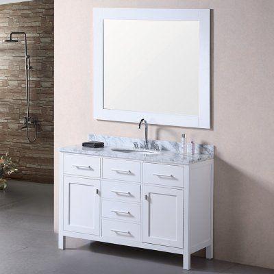 Design Element DEC076C-W London 48-in. Single Bathroom Vanity Set - DEC076C-W_MUT-W