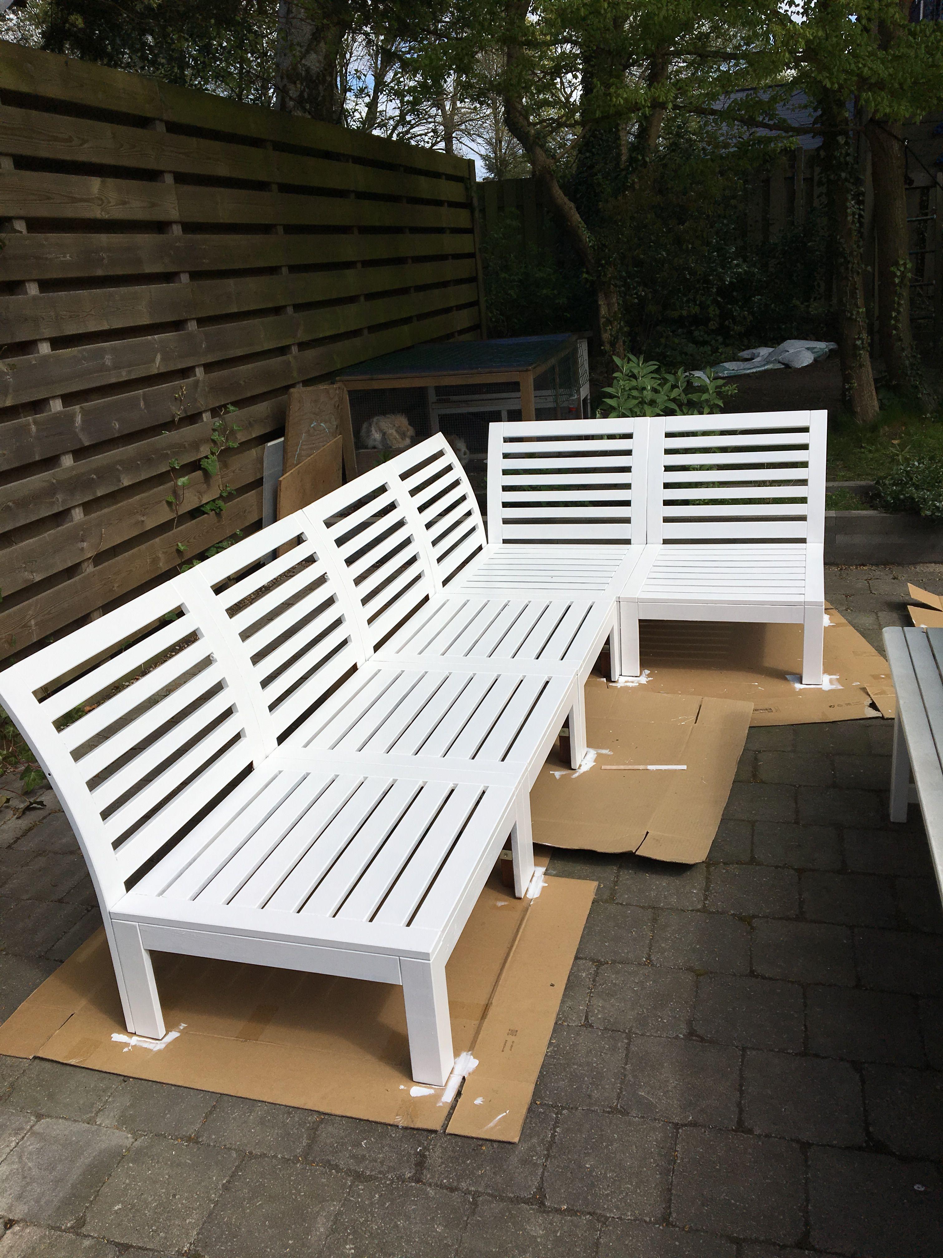 Painted Ikea Applaro Lounge Sofa White
