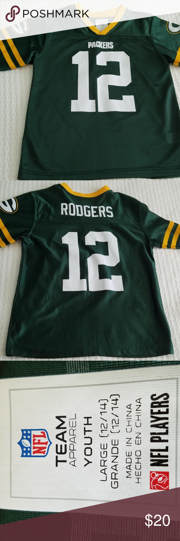 Green Bay Packers Aaron Rodgers Jersey Nfl Team In 2020 Team Apparel Green Bay Packers Green Bay Packers Aaron Rodgers