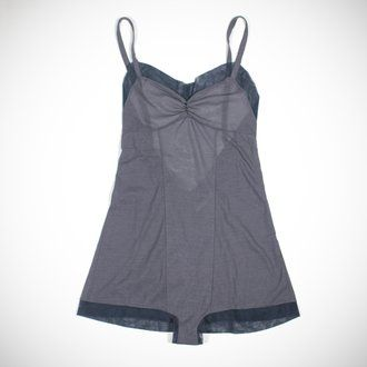 I spy the Lily Teddy by Araks in fog cotton crepe