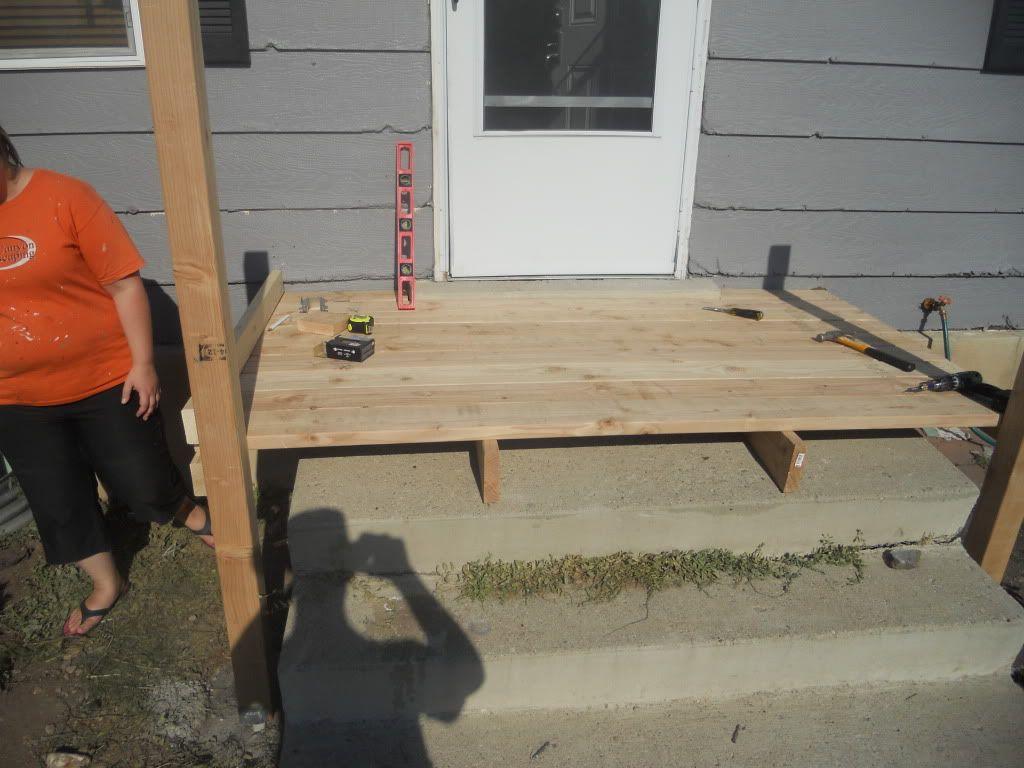 Best Building A Porch Front Porch Makeover Concrete Front Porch 400 x 300