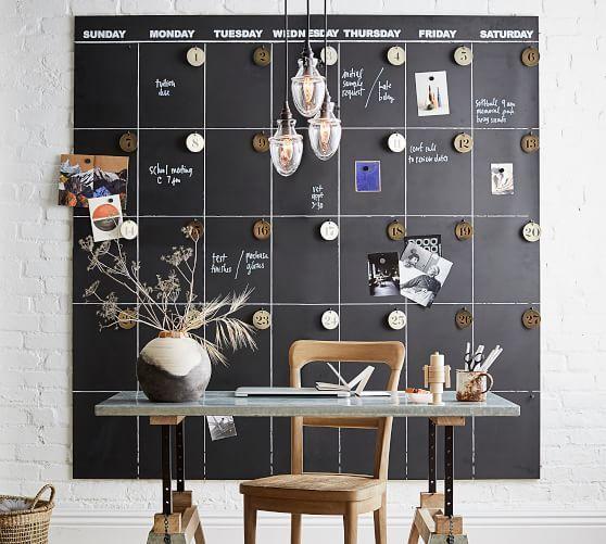 Oversized Chalkboard Calendar Www Potterybarn Com