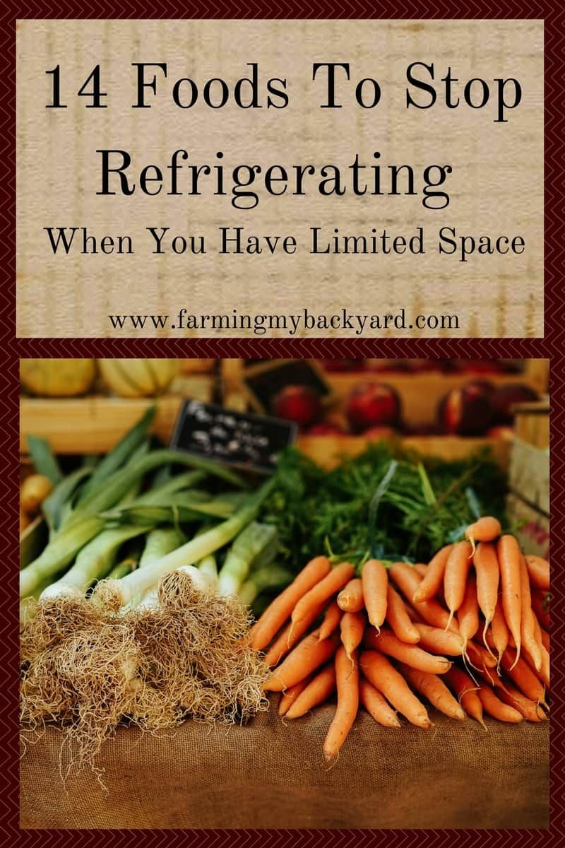 14 foods to stop refrigerating when you have limited space