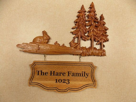 Custom Wooden Signs ~ Family Name Sign ~ Wood Wall Art Wood Carving ...
