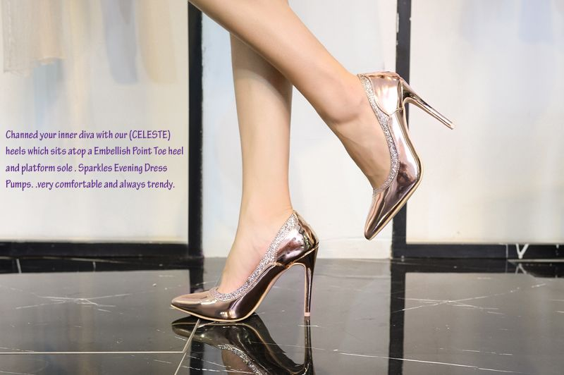 84f326dd139 Mila Lady (CELESTE) Embellished Sparkles Platform Point Toe Lady Heeled  Shoes. get 40% OFF when reach  100 on Friday and Saturday only.