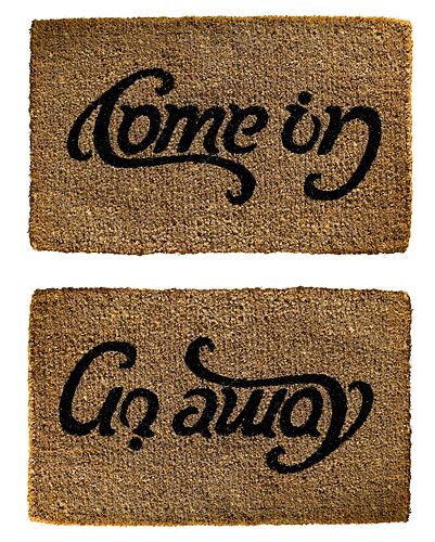 Come in / Go away mat