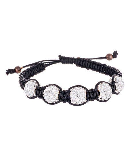 Black cords dangle and wrap around your wrist with this