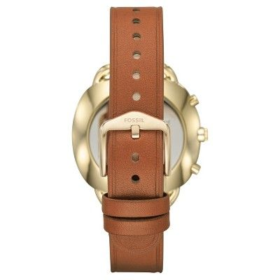 Fossil Q Accomplice Hybrid Smartwatch - Luggage Leather, Brown