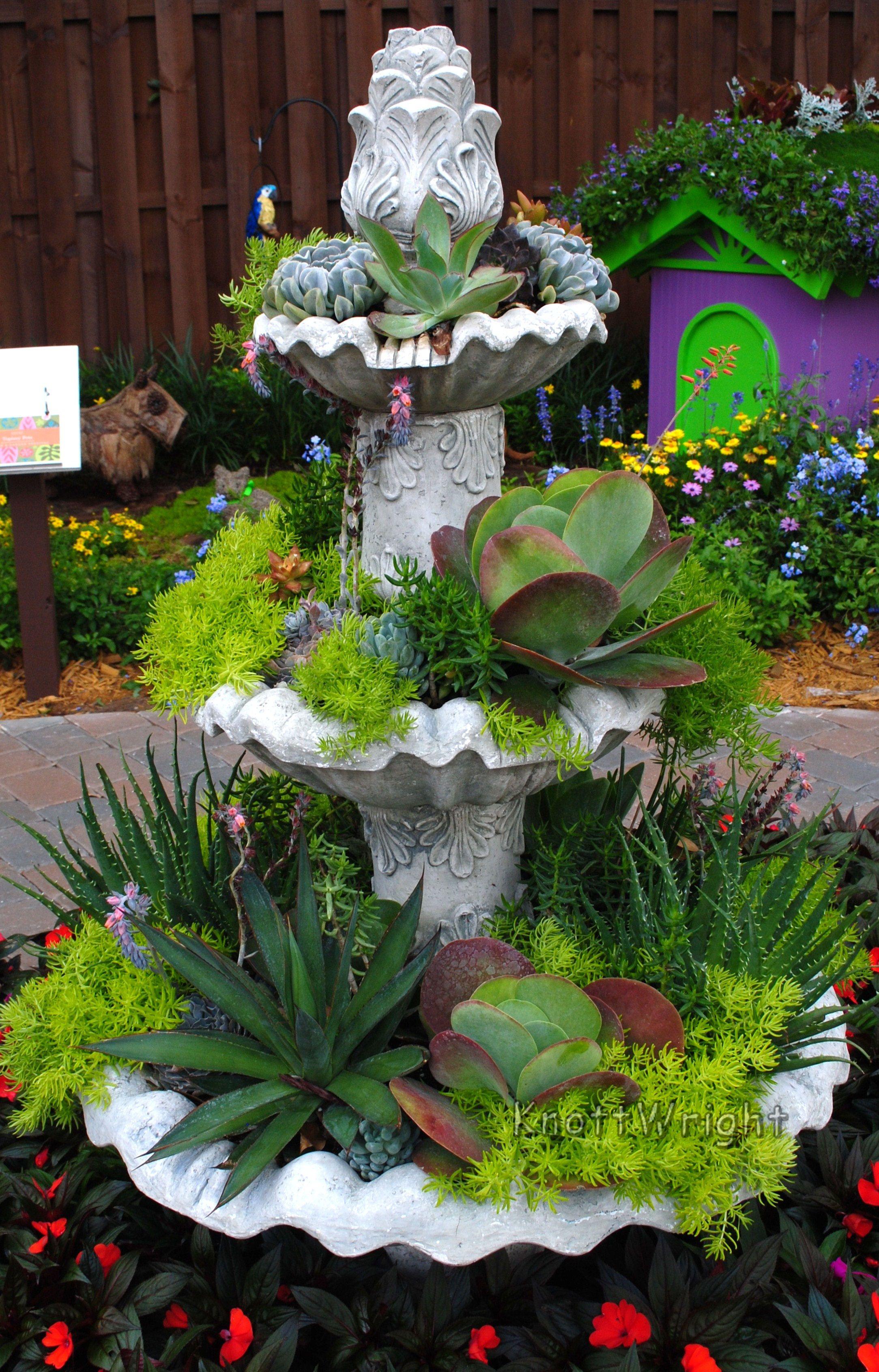 Flower Fountain Garden Sculpture Garden Outdoor Living