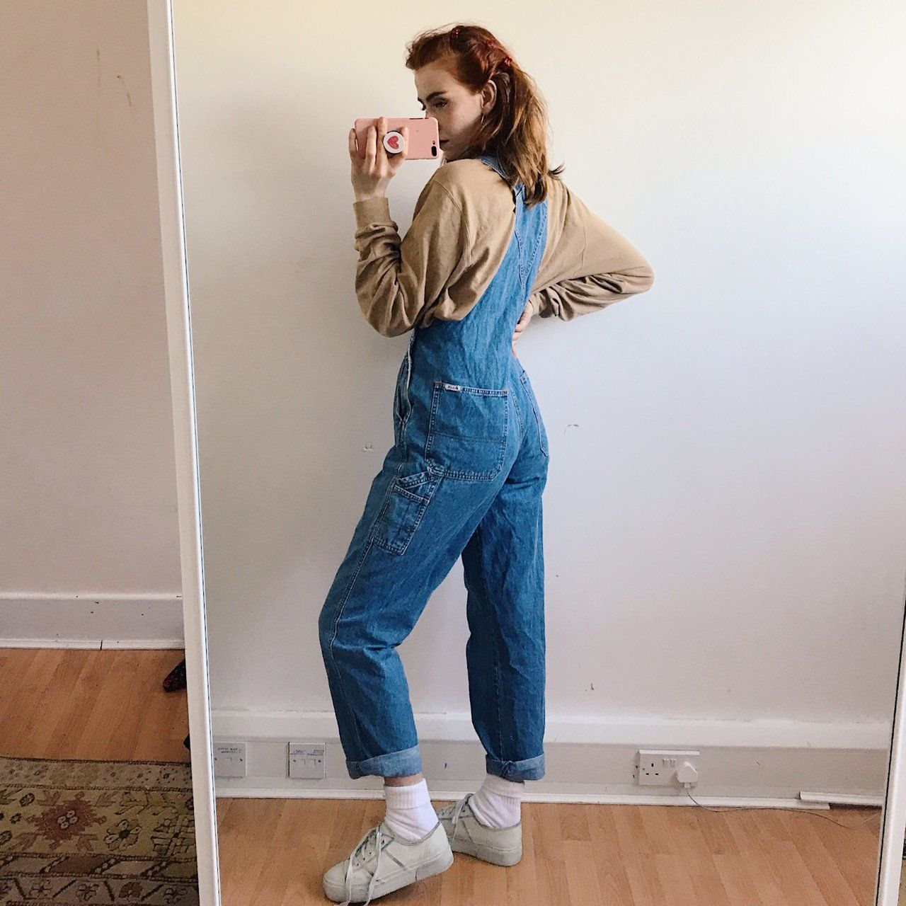 1ffe7e18 Gorgeous 90s vintage denim dungarees, the perfect fitted but - Depop ...