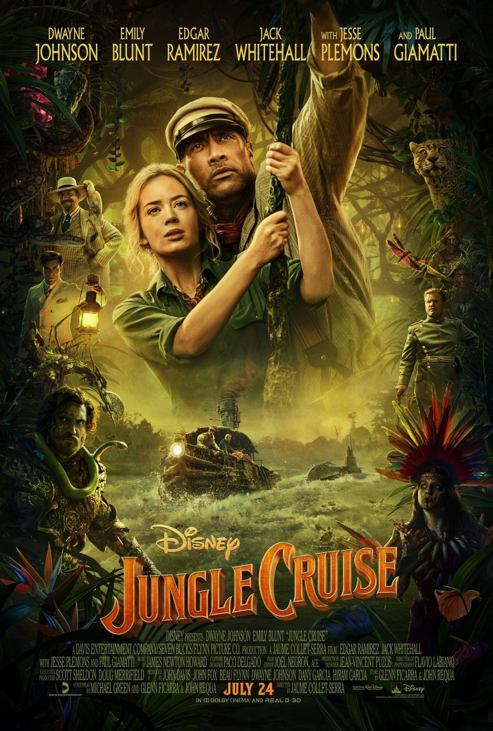 Disney S Jungle Cruise New Movie Posters Trailer Film Cruise