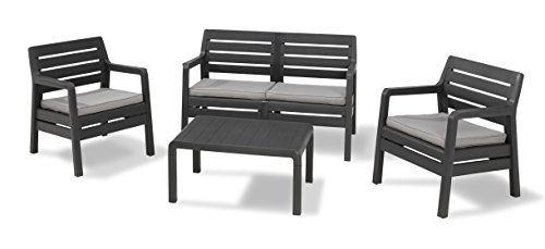 Allibert by Keter Delano 4 Seater Lounge Set Outdoor Garden ...