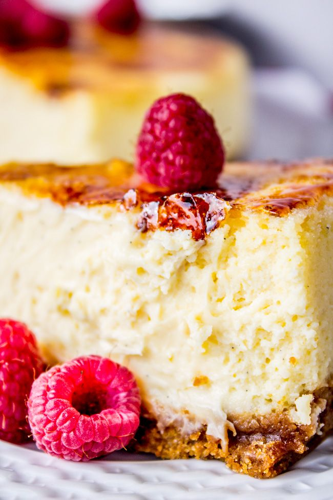 Crème Brûlée Cheesecake from The Food Charlatan