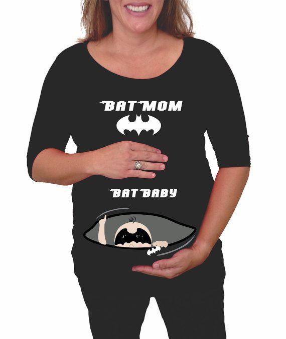 ccdb182e cute superhero maternity shirt BatMom BatBaby by DJammarMaternity ...