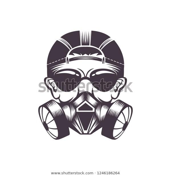 Gas Mask Vector Illustration Stock Vector Royalty Free 1246186264 Illustration Design Vector Illustration Design Gas Mask