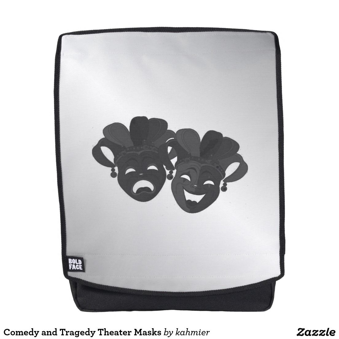 Comedy and Tragedy Theater Masks Backpack