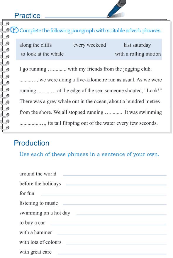 Grade 5 Grammar Lesson 4 The Phrase 5 English Worksheets