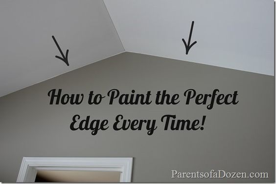 How To Paint The Perfect Edge Every Tme Painters Tape Painting Tips Painting Edges