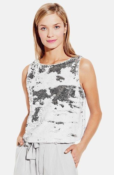 Vince Camuto Two-Way Sequin Shell