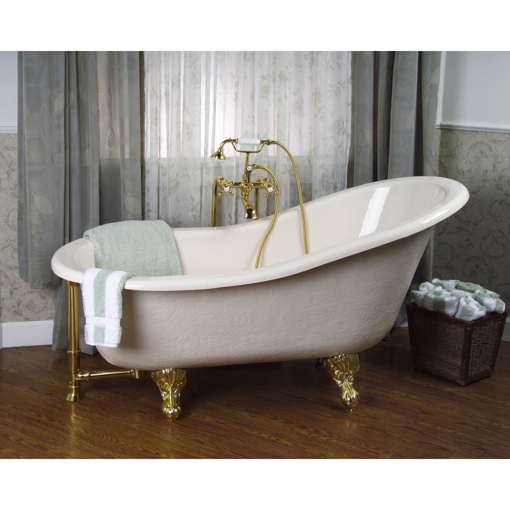 Pegasus 5 Ft Acrylic Ball And Claw Feet Slipper Tub In Bisque