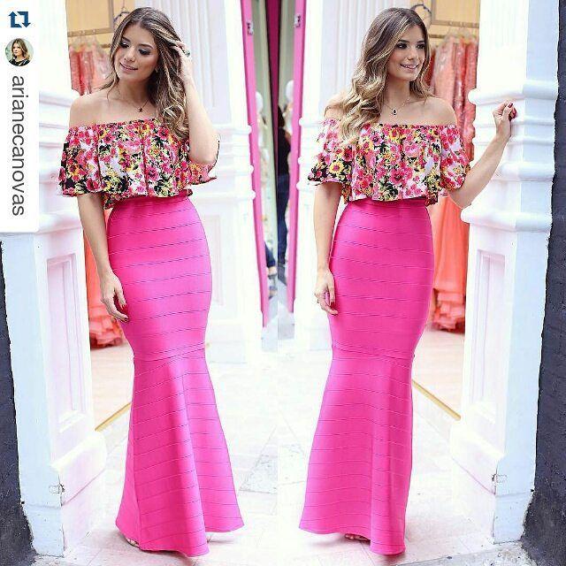 62363f155 saia-bandagem-longa-sereia-rosa-pink-ariane-comprar | Vestidos ...