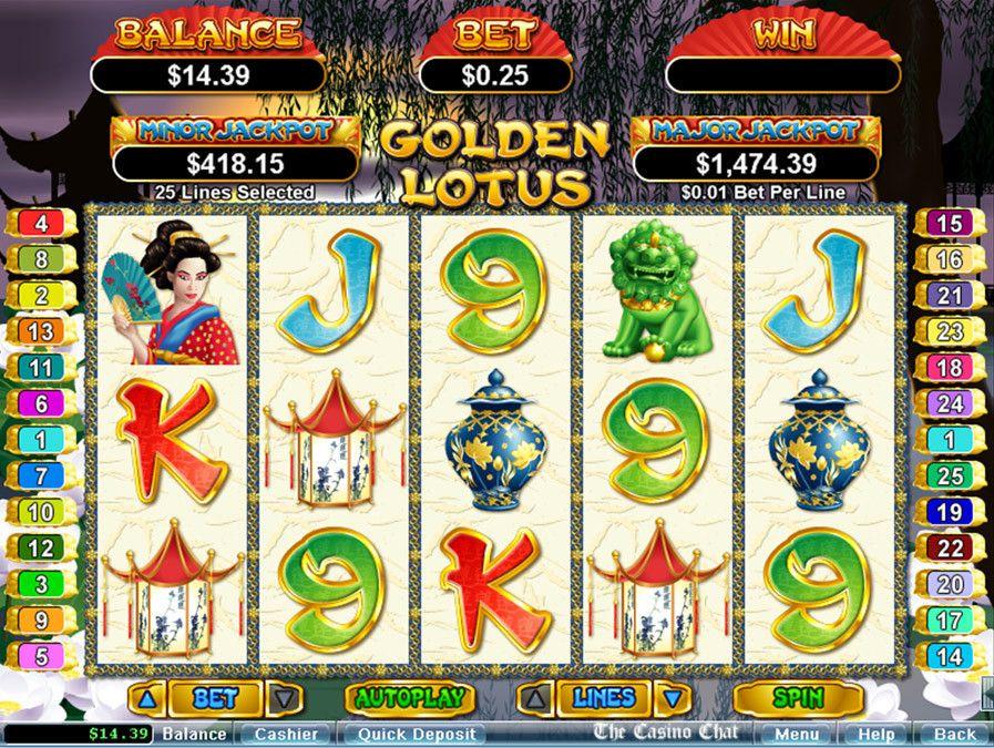 Free Slot Game Golden Lotus