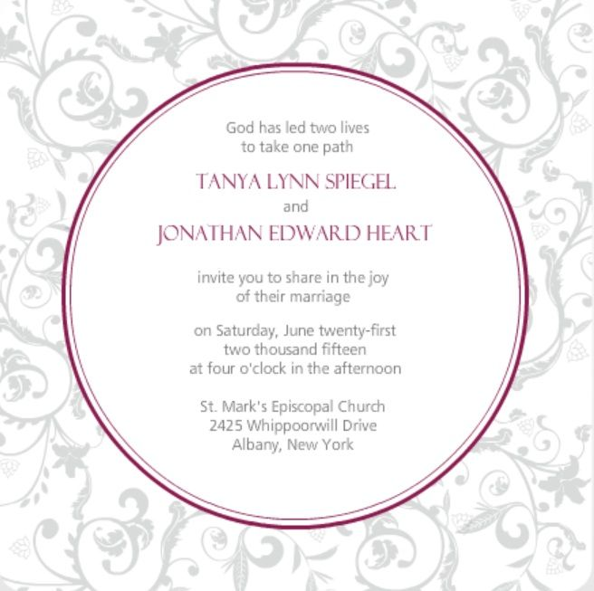 Words For Wedding Invites: Wedding Invitation Wording Ideas From PurpleTrail