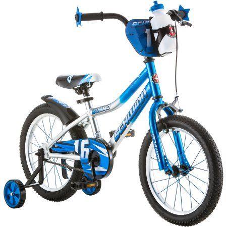 Schwinn Cosmo Bmx Style Bike 16 Inch Wheels Single Speed Blue Grey Walmart Com Bike With Training Wheels Boy Bike Ideal Bikes