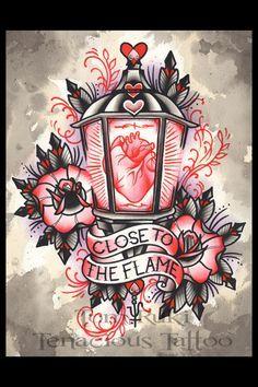 Valentine Lantern Tom Ruki Tattoo Print by TomRuki on Etsy, £10.00