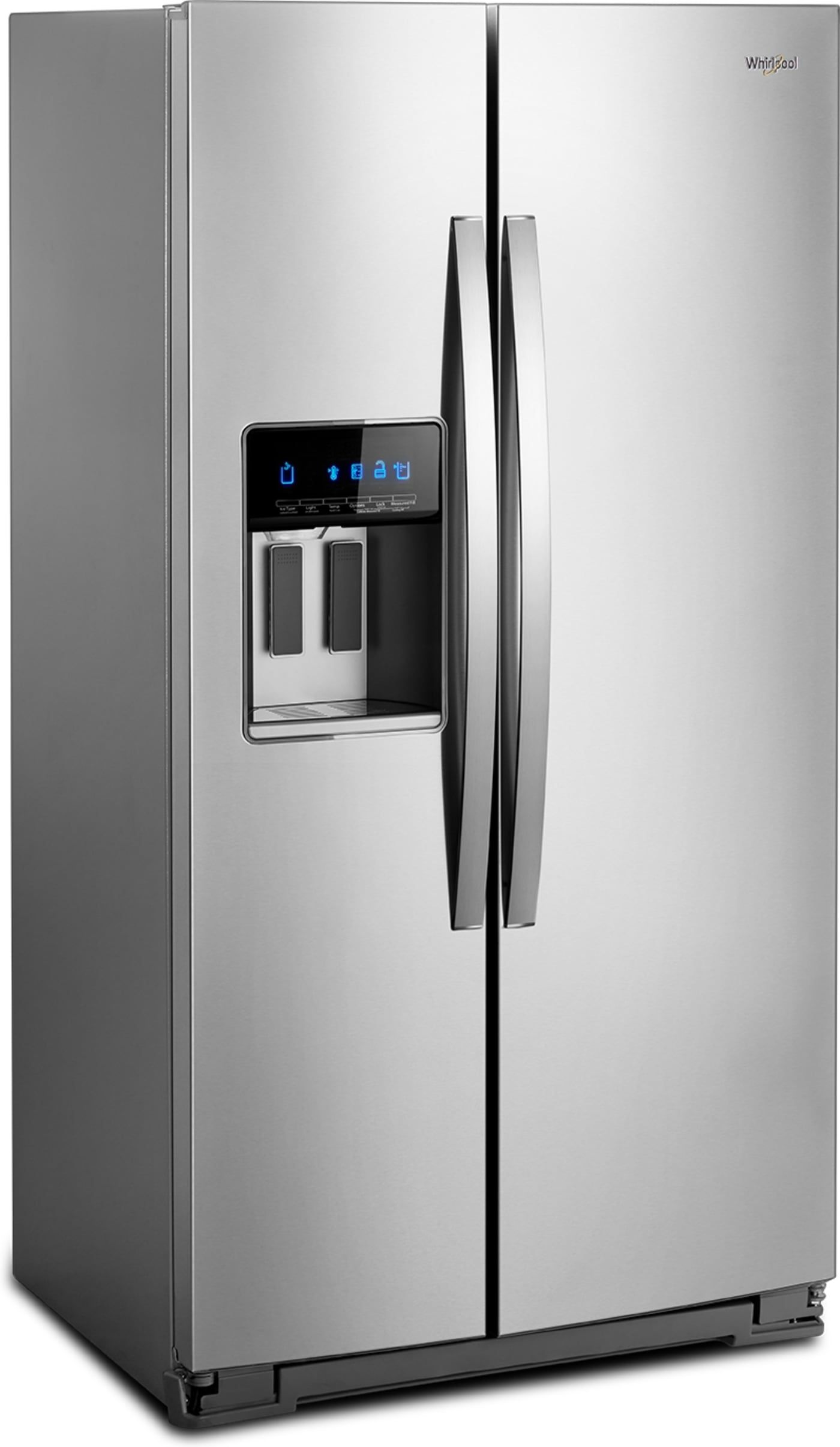 Wrs571cihz By Whirlpool Side By Side Refrigerators Goedekers Com Stainless Steel Counters Side By Side Refrigerator Whirlpool