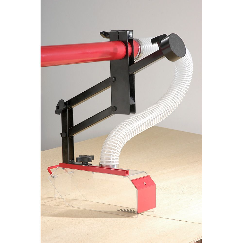 Saw table dust extraction guard this provides adequate protection only as a blade guard the Table saw guards