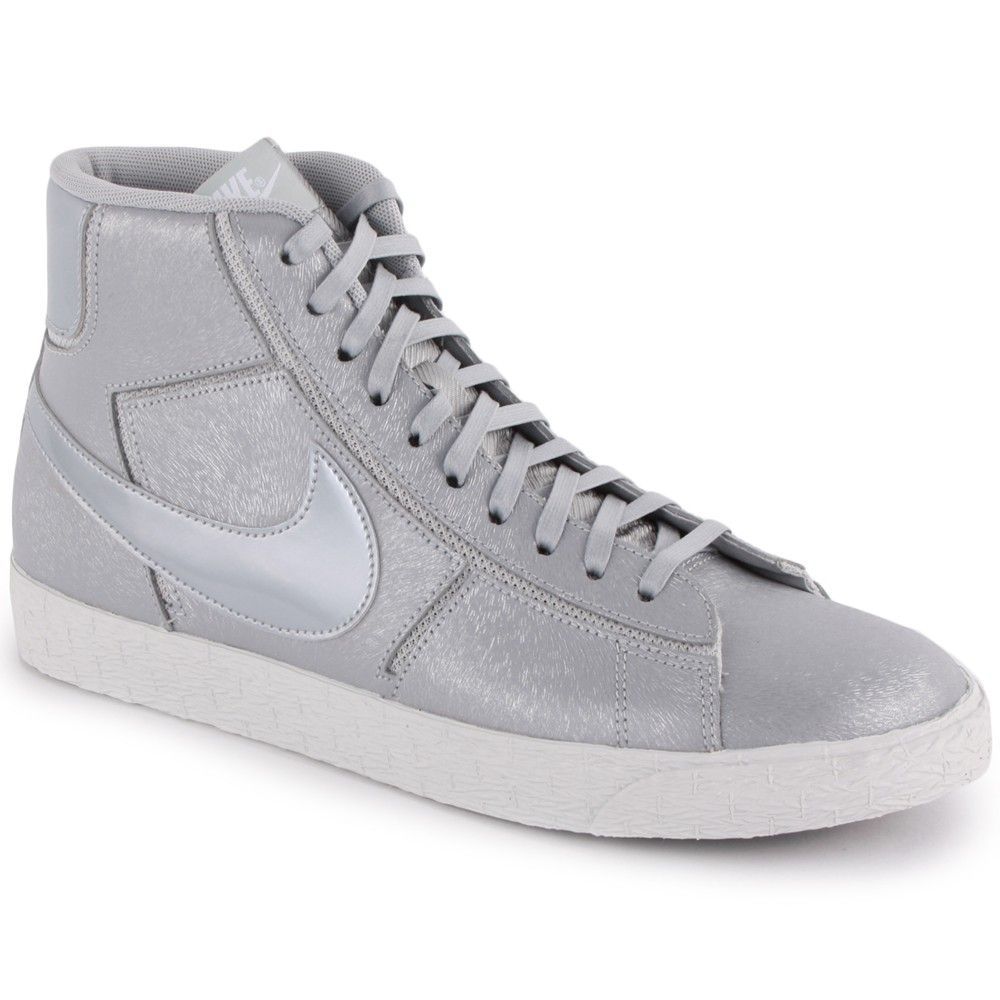 best sneakers c0a79 11ce9 Nike Blazer Mid Cut Out Premium Womens Trainers in Silver