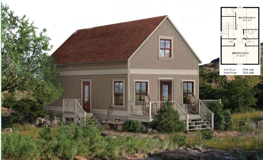 Steel Frame Cabin Kit Home 3 Bedroom from 11,698 (With
