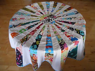 Great Tutorial On How To Make Round Quilted Tablecloth Or