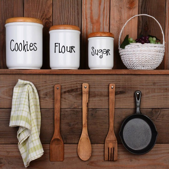 Custom kitchen containercanister food labels create