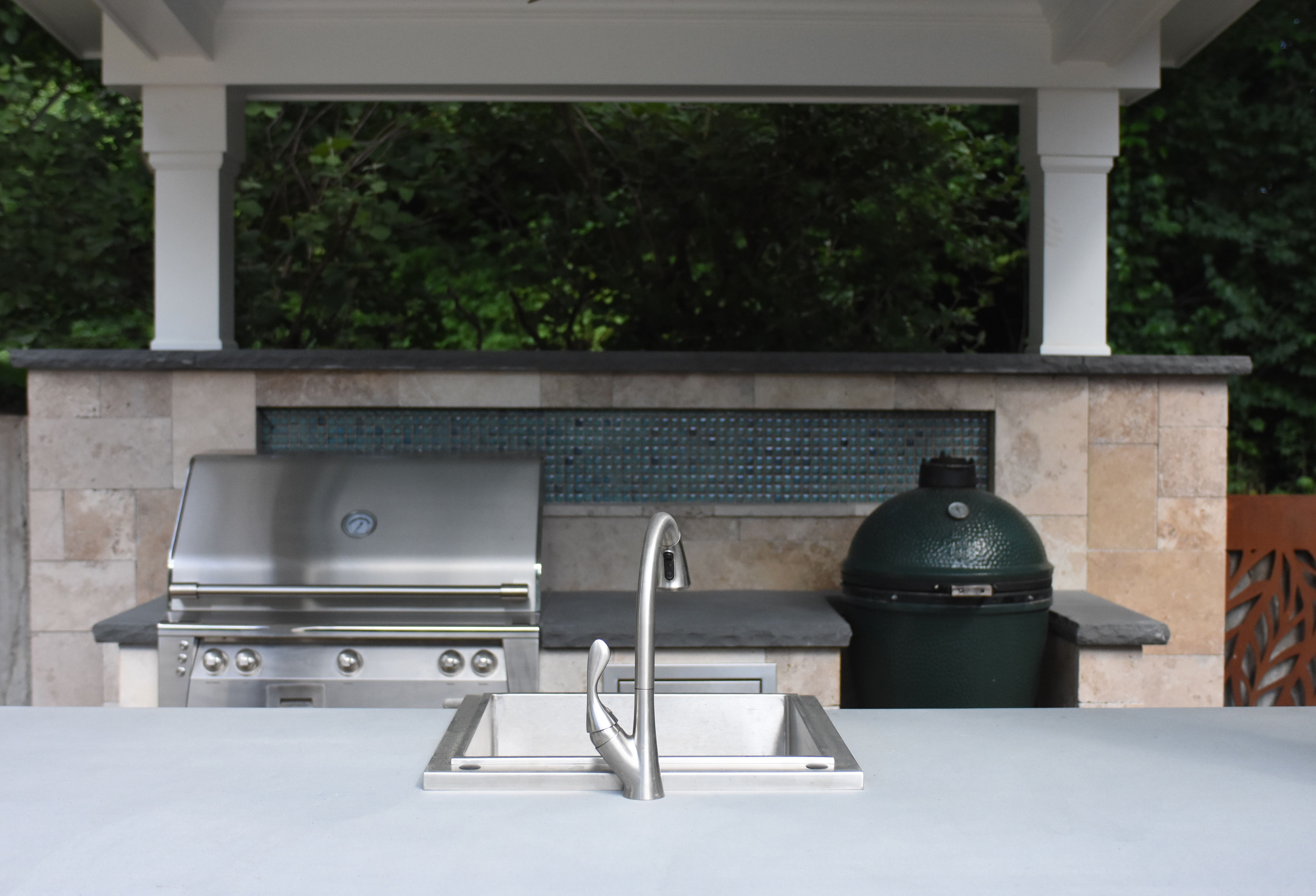 Blue Stone Countertop Outdoor Kitchens Outdoor Kitchens Kitchen Outdoor Kitchen