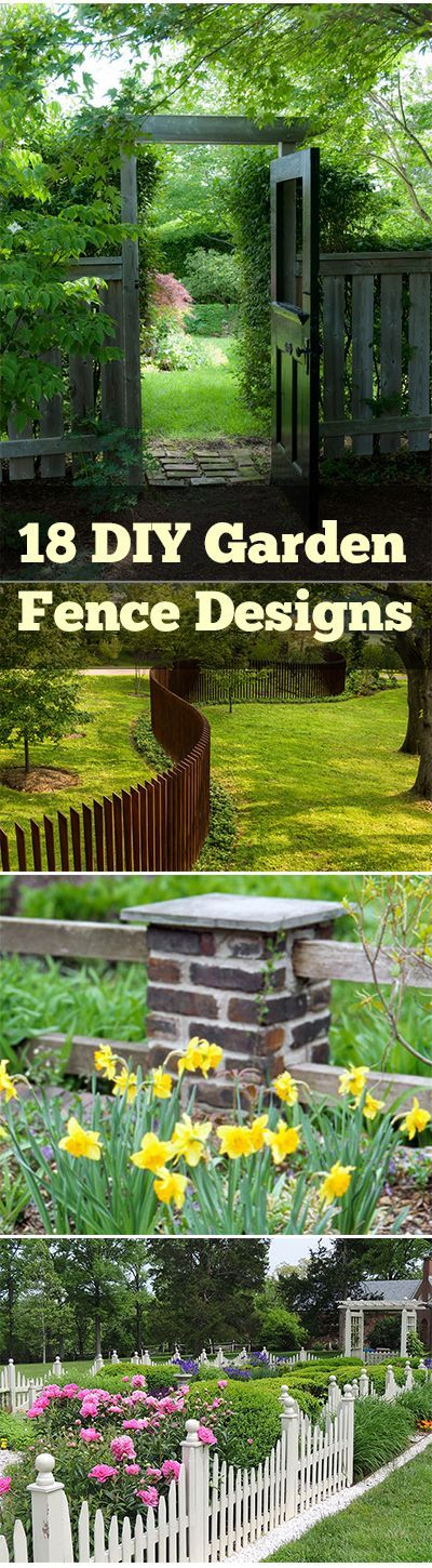 18 Different Types of Garden Fences Garden fencing, Fences and Gardens