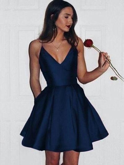 Simple Homecoming Dress Short Dance Dresses Sweet 16 Dress Graduation Dress SD005 from SuperbDress
