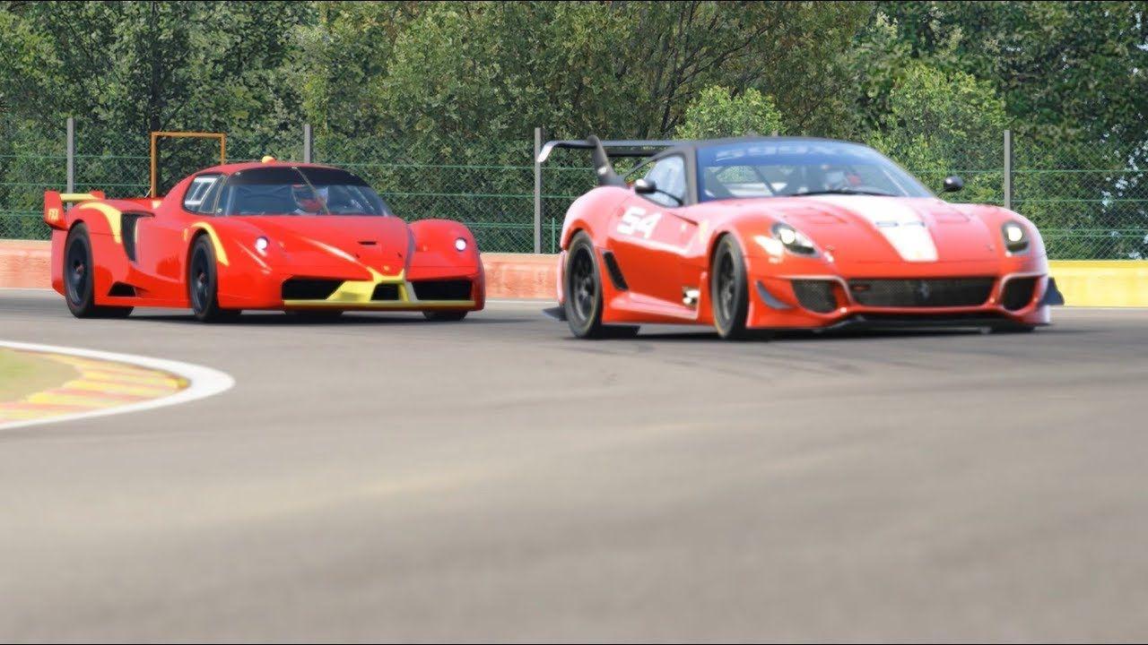 Ferrari FXX Corse Clienti vs Ferrari 599XX Evo at Spa-Francorchamps