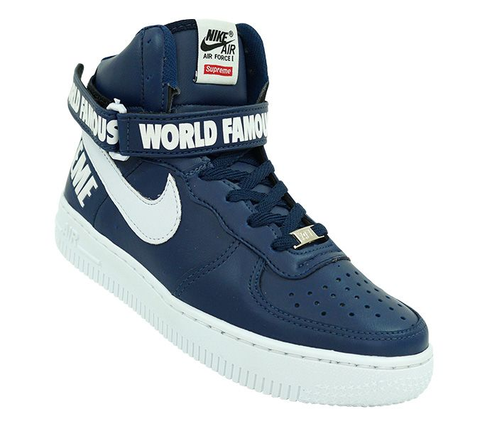 best service 74248 7619b Pin by Athamus Trader Shoes on Bota Nike Air Force 1 Supreme Cano Alto   Nike  air force, Nike air, Air force sneakers