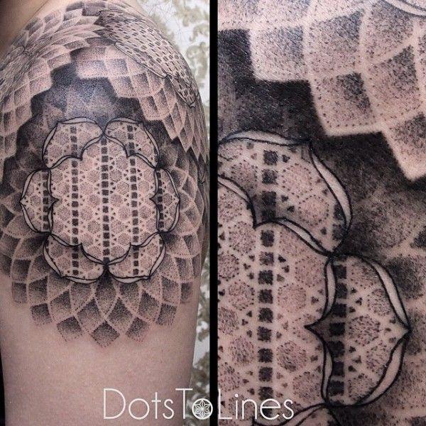 A arte do tatuador alemão Chaim Machlev (Dots To Lines) | Tinta na Pele