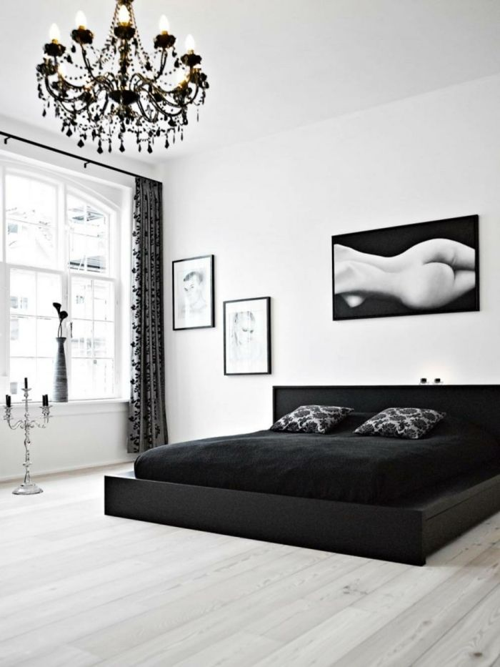 1001 muster schwarz wei lassen sie eine wandgestaltung mit farbe vergessen wei e wohnzimmer. Black Bedroom Furniture Sets. Home Design Ideas