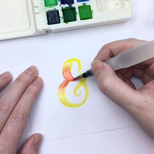 Bonus letter Ampersand ❤ ✍🏻 @Artistrove Water Brush and - bonus letter template