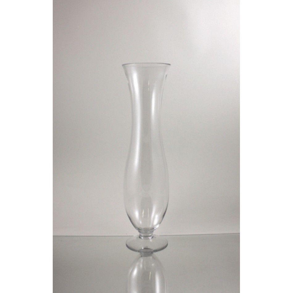 Koyal - 5.5 x 20 Clear Glass Trumpet Vase (BULK Case of 6 = $16.83 ...